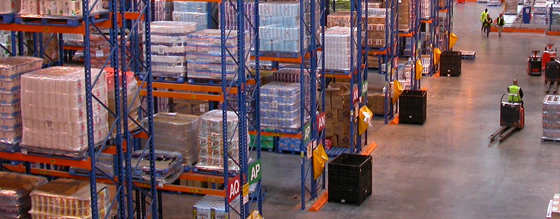 Inventory management in large warehouse