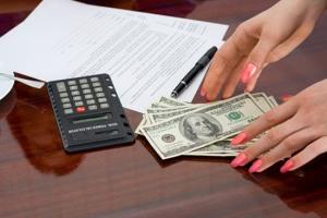 Money and calculator in panama
